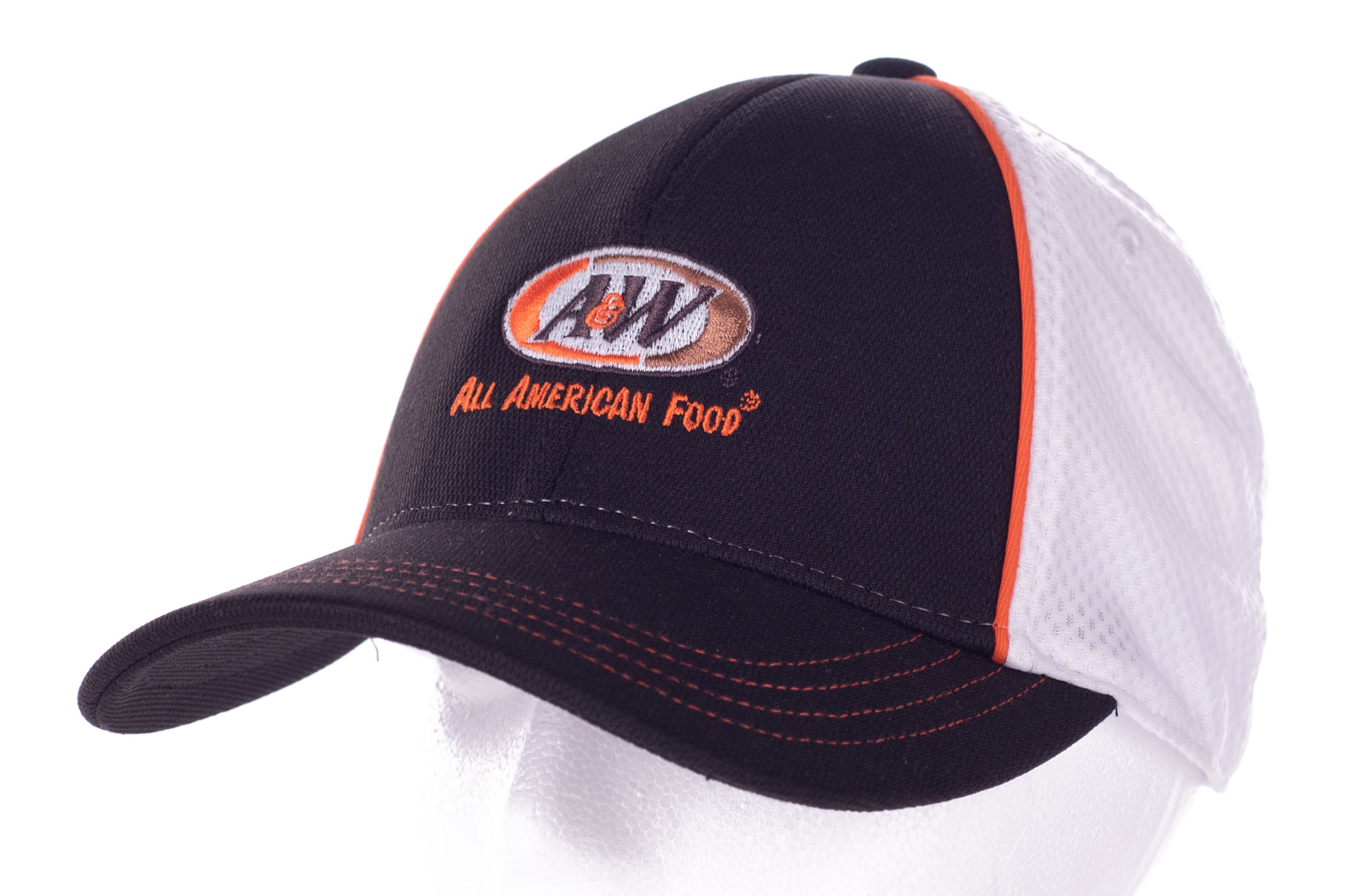 A&W Piped Mesh Back Cap