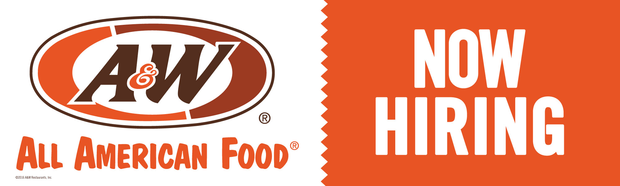 A&W Now Hiring (Outdoor Banner)