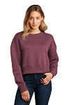 District® Ladies Perfect Weight ® Fleece Cropped Crew