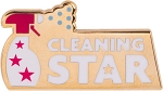LJS Cleaning Star Lapel Pin