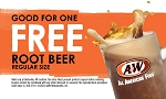 A&W Free Root Beer Coupon Card