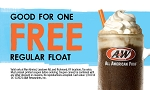 A&W Free Float Coupon Card