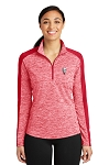 KFC Sport-Tek® Ladies PosiCharge® Electric Heather Colorblock 1/4-Zip Pullover