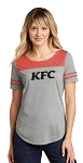 KFC Sport-Tek® Ladies PosiCharge ® Tri-Blend Wicking Fan Tee