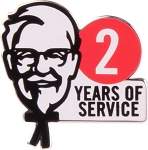 KFC 2 Year of Service lapel pin