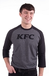 KFC New Era® Mens Heritage Blend 3/4-Sleeve Baseball Raglan Tee