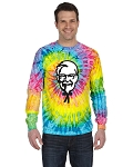 KFC Tie-Dye Adult 5.4 oz. 100% Cotton Long-Sleeve T-Shirt