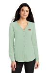 A&W Port Authority® Ladies Ladies Long Sleeve Button-Front Blouse