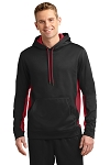 KFC Sport-Tek® Sport-Wick® Fleece Colorblock Hooded Pullover