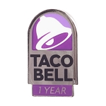 Taco Bell 1 Year of Service lapel pin