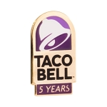 Taco Bell 5 Year of Service lapel pin