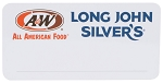 A&W & LJS Co-Brand Name Badge