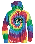A&W Tie Dye Hooded Pullover T-Shirt