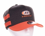 A&W New Era® Shadow Heather Striped Flat Bill Snapback Cap