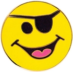 LJS Smiley Pirate Pin