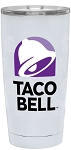 Taco Bell 20 oz. White Stainless Steel Tumbler